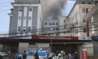 Hospital Federal de Bonsucesso é atingido por incêndio
