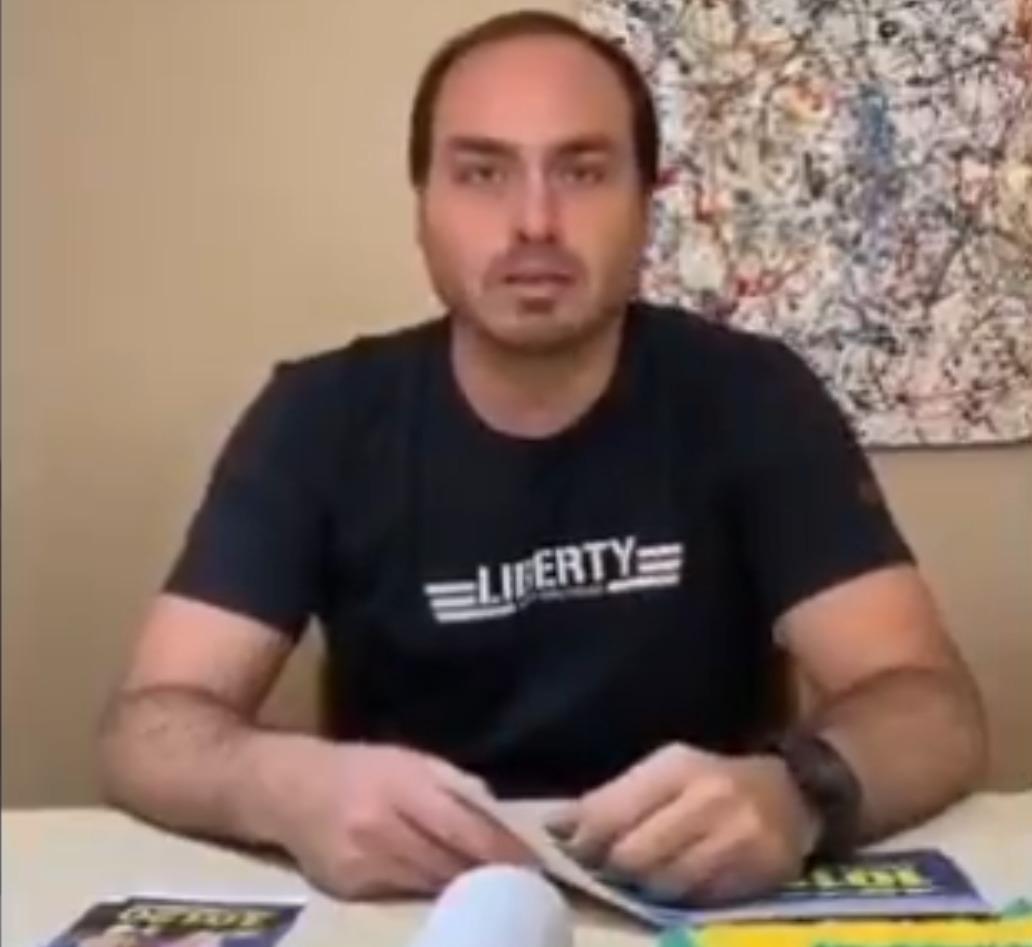 Carlos Bolsonaro compartilha do cantor Roger vídeo falso da vice-presidente da Venezuela