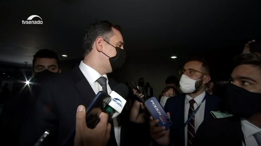 Vídeo: Pacheco: adiamento da votação da PEC Emergencial pode ser discutida com senadores
