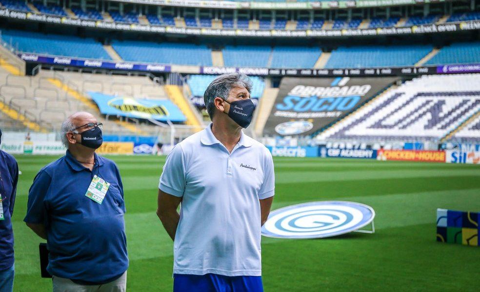 Grêmio tem nova reunião e avança em conversas com Renato para renovar por mais um ano