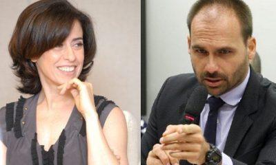 Eduardo Bolsonaro ironiza Fernanda Torres sobre Lei Rouanet
