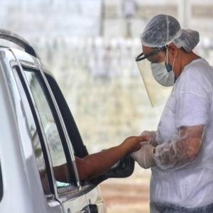 Testagem rápida de Covid-19 é realizado em Jaru nesta sexta-feira
