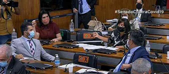 CPI da Covid: bate-boca de bancada feminina e bolsonaristas suspende sessão