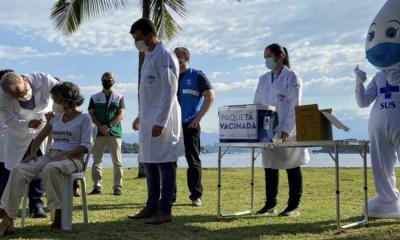 """""""Passaporte para liberdade"""", diz Queiroga ao iniciar vacinação em Paquetá"""