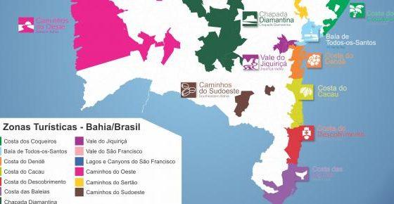 O Mapa do Turismo Brasileiro e as Zonas Turísticas da Bahia