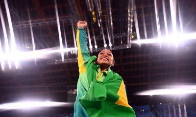 É OURO!  É OURO!  É OURO!  Rebeca Andrade… do Brasil !!!!!!!!!!!!!!!!!!!