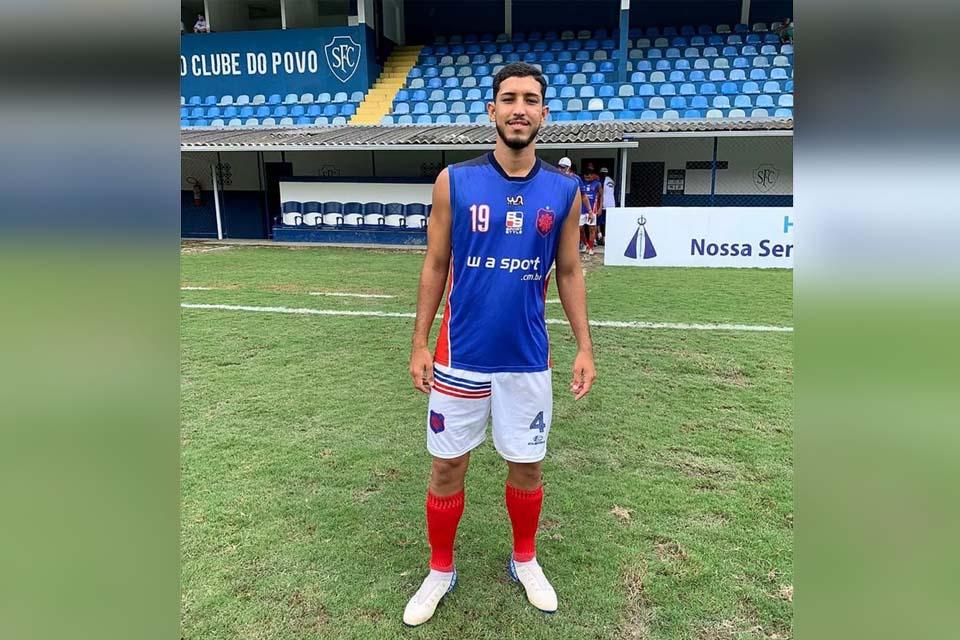 """Zagueiro rondoniense é apresentado no Nova Cidade e afirma: """"O estilo de jogo aqui é muito mais forte"""""""