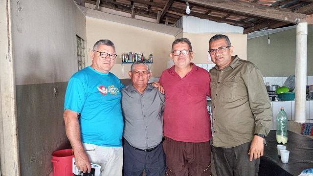 Evangelista Edson Cardoso visita lideranças no norte, sul e sudeste do Estado