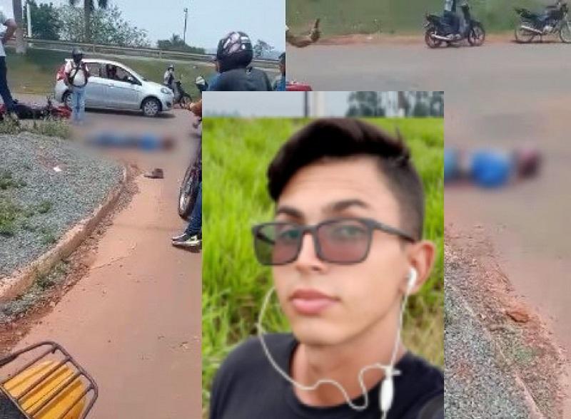 URGENTE: Jovem perde a vida em grave acidente envolvendo motocicleta e caminhão na BR 364