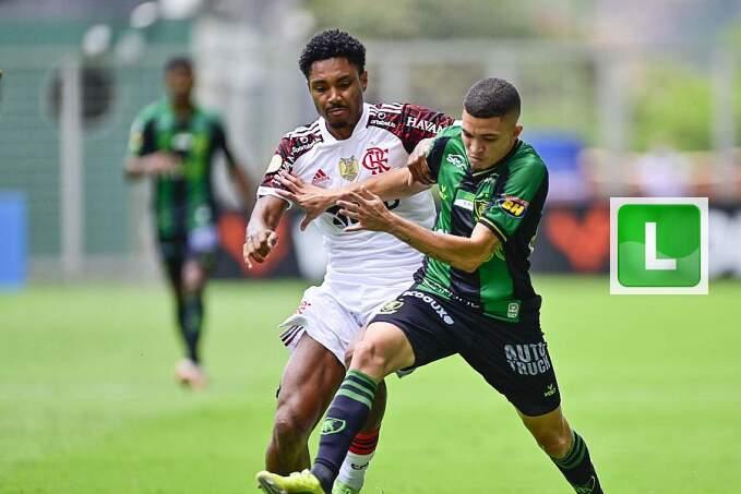 Com gols no fim, empatam América-MG e Flamengo pelo Brasileiro