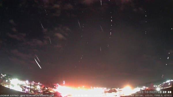 Chuva de meteoros com detritos do cometa Halley é flagrada no Planalto Norte de SC